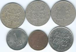 Kenya - 1 Shilling - 1967 (KM5) 1975 (KM14) 1980 (KM20) 1994 (KM20a) 1998 (KM29) & 2005 (KM34) - Kenya