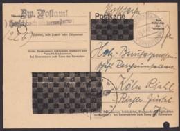 """Mi-Nr. P 837a, Bedarf Als """"Postsache"""", """"Herschbach"""", 24.6.46, Aktenlochung Schachbrettüberdruck - Zone Française"""