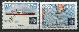 South Africa Mi# 829-30 Postfrisch/MNH - Ship, Map, Antarctic - Sin Clasificación