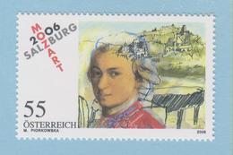 J.P.S. 7 -Musique - Timbre - Compositeur - N° 38 - Autriche - Mozart - N° Yvert N° 2430 - Musique