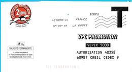 Lettre T VPC Promotion Creil Oise Chien Hund Dog - Postwaardestukken