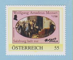 J.P.S. 7 -Musique - Timbre - Compositeur - N° 41 - Autriche - Mozart - N° Yvert N° - Musique