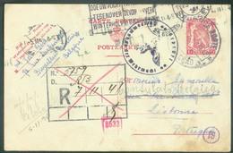 E.P. Carte Lion 1Fr. Obl. BRUXELLES 22 Octobre 1941 Vers Lisbonne (Portugal) Renvoi Au COnsulat De Belgique Dc LISBOA NO - Guerre 40-45