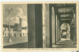 Migliarino; Portici Del Palazzo Municipale E Piazza Umberto I - Non Viaggiata. (Bertelli - Romani) - Ferrara