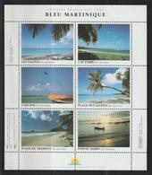 France Feuillet De 6 Vignettes Bleu Martinique ** MNH - Erinnophilie