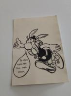 Rare Ancienne Carte De Voeux Astérix Par Goscinny 1968 Je Vous Adresse Tous Mes Voeux - Holidays & Celebrations