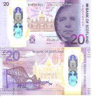 Scotland 20 Pounds  2019 New  UNC Polimer - Scozia