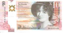 Scotland 10 Pounds  2016   UNC Polimer - [ 3] Scotland