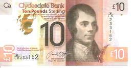 Scotland 10 Pounds  2017   UNC Polimer - [ 3] Scotland