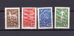 Finlande 1943 Yvert 261 / 264 ** Neufs Sans Charniere. Au Profit De La Croix Rouge - Finland