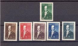 Finlande 1941 Yvert 240 / 245 ** Neufs Sans Charniere. Effigie Du President Risto Ryti - Finland