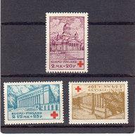 Finlande 1932 Yvert 170 / 172 * Neufs Avec Charniere. Au Profit De La Croix Rouge - Finland