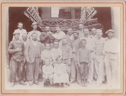 PHOTO ANCIENNE  OUVRIERS RAMASSEURS DE SACS DE CHEZ LES BOULANGERS ENTREPRISE G. ROY& BERTIN PARIS 10 Rue Theodore Deck - Métiers