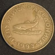 MACEDOINE - MACEDONIA - 2 DENARI 1993 - KM 3 - ( Truite D'Ohrid ) - Macedonia