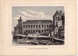 Album De L'Histoire De France : Gravure : PARIS  Le Louvre Sous Henri IV. Texte Au Dos. Format 19,5 X 14,8 - Histoire