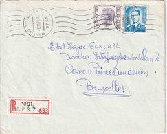 """BSD/FBA : RECOM Bf Met PZ 22 Fr Met Rolstempel !!! """"POSTES-POSTERIJEN / D   D  /  6.10.71 / B.P.S. 7"""" Van 4 TTR (WEIDEN) - Postmark Collection"""