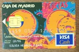 ESPAGNE CAJA DE MADRID VISA CASH CARTE BANCAIRE CARTE À PUCE QUE POUR COLLECTION - Cartes De Crédit (expiration Min. 10 Ans)