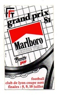 Autocollant FFT Grand Prix 91 Marlboro Tennis Pro Football Club De Lyon Coupe Nott - Format: 13x8 Cm - Stickers
