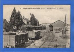88 VOSGES - GRANGES SUR VOLOGNE Vue Générale De La Gare (voir Descriptif) - Granges Sur Vologne