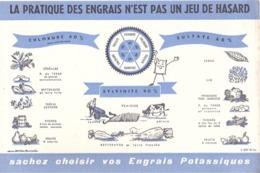 FRANCE - Buvard - Agriculture - Elevage - Sachez Choisir Vos Engrais Potassiques - Agriculture