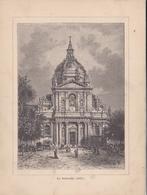 Album De L'Histoire De France : Gravure  PARIS   La Sorbonne Texte Au Dos Format 19,5 X 14,8 - Histoire