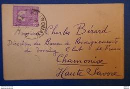 358 TUNISIE PETITE LETTRE 1934 POUR CHAMONIX FRANCE . CHARMANT - Tunisie (1888-1955)