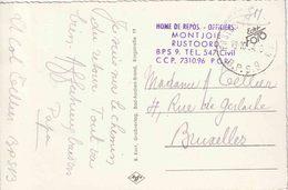 """BSD/FBA : ZK (MONSCHAU)  """"SM""""  """" BPS 9 / 19.10.54"""" + """"HOME DE REPOS-OFFICIERS/ MONTJOIE/RUSTOORD"""" - Postmark Collection"""