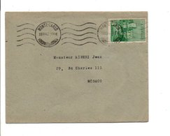 MONACO LETTRE INTERIEURE 1942 - Monaco