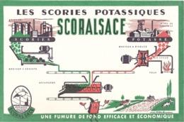 FRANCE - Buvard - Agriculture - Elevage - Les Scories Potassique - Potasse D' Alsace - Fumure De Fond - Agricultura