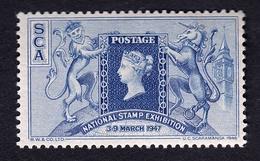 """United Kingdom London 1947 """" Philatelie National Stamp Exhibition """" Vignette Cinderella Reklamemarke Werbemarke - Erinofilia"""