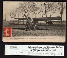BRIOUDE: Plan TOP Sur L'aviateur Eugène Gilbert Devant Son Monoplan. RARE Carte Spéciale éditée Pour Ce Meetting ....... - Brioude