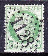 France-Yv 53, GC 1128 Corbie - Marcophilie (Timbres Détachés)