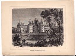 Album De L'Histoire De France : Gravure  Château De Chambord Texte Au Dos Format 19,5 X 14,8 - Histoire