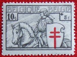 10c+5c Tuberculose Zegel Ridder 1934 OBP 394 (Mi 386) POSTFRIS/ MNH **BELGIE BELGIUM - Unused Stamps