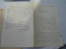 Tayard Charles Lieutenant Colonel Arras  Demande Appui Pour Avancement Malgre Caractere Diff Au General Comte De Germiny - Autogramme & Autographen