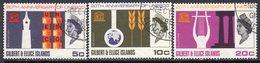 Gilbert & Ellice Islands QEII 1967 20th Anniversary Of UNESCO Set Of 3, Used, SG 129/31 (BP2) - Gilbert- En Ellice-eilanden (...-1979)