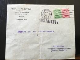 Départ 1€ : Belgique Lettre Pour Le Luxembourg 191? Liège Censure Militaire - Covers & Documents