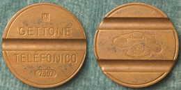 M_p> CURIOSITA' Gettone Telefonico Ipm Sigla 7607 Leggermente DECENTRATO - Vedere Foto - Monétaires/De Nécessité