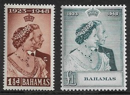 BAHAMAS 1948 SILVER WEDDING SET LIGHTLY MOUNTED MINT Cat £40+ - Bahamas (...-1973)