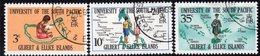 Gilbert & Ellice Islands QEII 1969 S. Pacific University Set Of 3, Used, SG 154/6 (BP2) - Gilbert- En Ellice-eilanden (...-1979)
