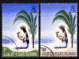 Gilbert & Ellice Islands QEII 1969 Christmas Set Of 2, Used, SG 157/8 (BP2) - Gilbert- En Ellice-eilanden (...-1979)