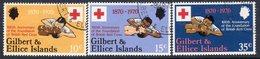 Gilbert & Ellice Islands QEII 1970 Red Cross Centenary Set Of 3, Used, SG 159/61 (BP2) - Gilbert- En Ellice-eilanden (...-1979)