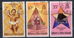 Gilbert & Ellice Islands 1970 Christmas Set Of 3, Used, SG 170/2 (BP2) - Gilbert- En Ellice-eilanden (...-1979)