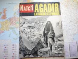 Paris Match N°570 12 Mars 1960 Agadir La Tragédie Des Emmurés - Algemene Informatie