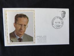 """BELG.1990 2352 FDC (Brux/Brus) Zijde/soie  : """" Koning Boudewijn / Roi Baudouin 14F """" - FDC"""