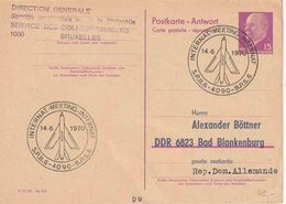 """BSD/FBA : ENTIER  (ANTWORT)  Van DDR !!! Met Tijdelijke Afstempeling """" INTERNATIONALE MEETING  14.6.1970 / BPS 6"""" - Postmark Collection"""