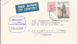 "BSD/FBA : Drukwerk  ""PAR AVION""  ""BPS 8 / 25.3.68""  + ""LUFTHANSA ERSTFLUG / HAMBURG-HELSINKI"" - Postmark Collection"