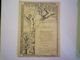 2020 - 5216  PEZENAS  1919  :  MENU Du Déjeuner Du 30 Décembre 1919.   XXX - Menú