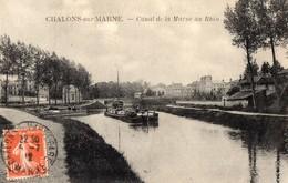 CPA - Batellerie - 51 - CHALONS-SUR-MARNE - Canal De La Marne Au Rhin - Châlons-sur-Marne