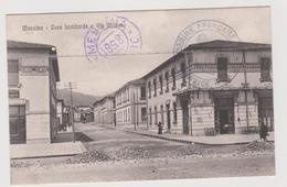 Messina, Case Lombarde E Via Milano Con Bar, Con Timbri Di Censura Militare   - F.p. - Anni '1910 - Messina
